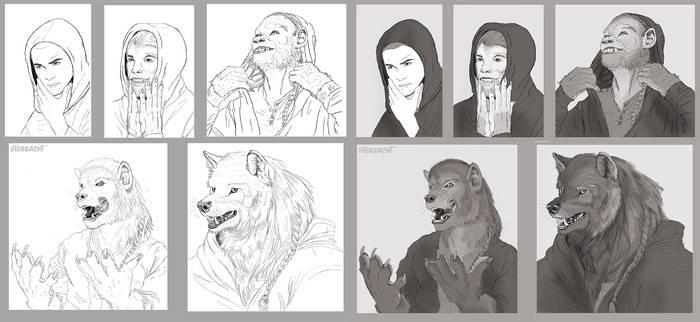 Sammy Werewolf TF commission
