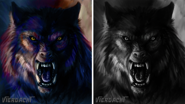 Werewolf Weds. Speedpaint - Colorful