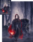 Little Red and Big Wolf Premade Book Cover