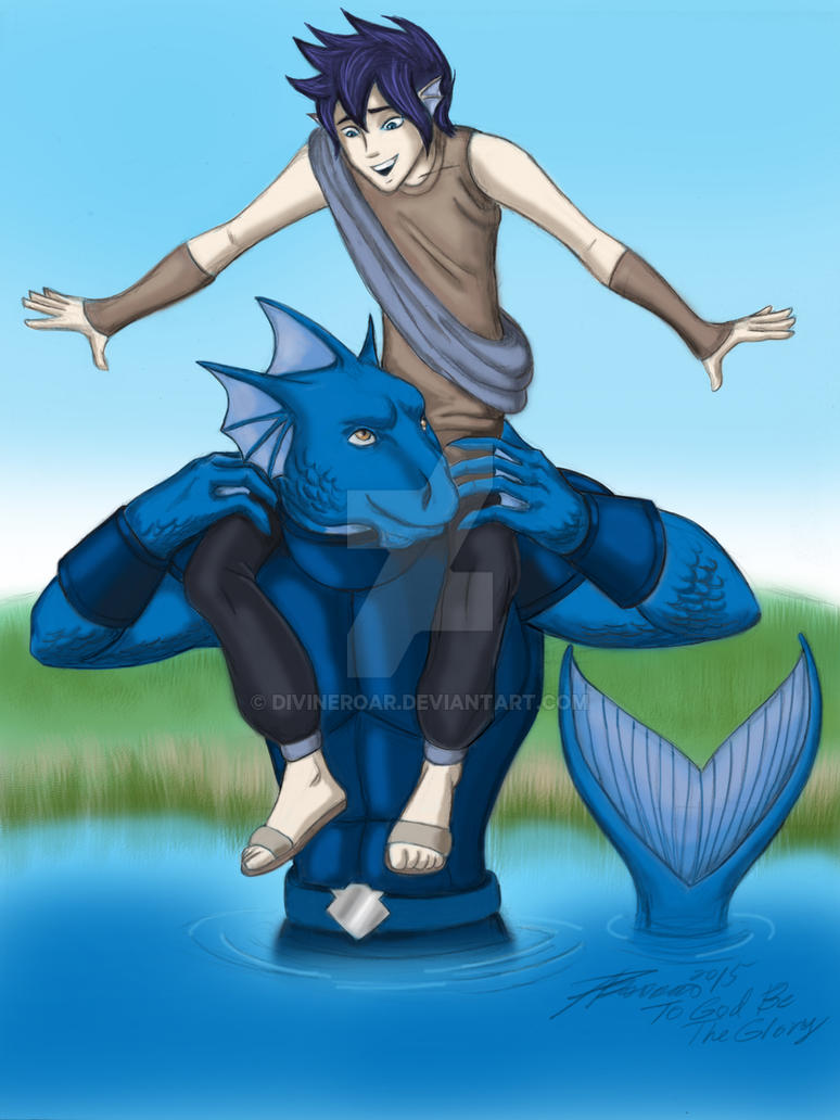 TCM Contest: Fen and Leviathan Fishy Friends by DivineROAR