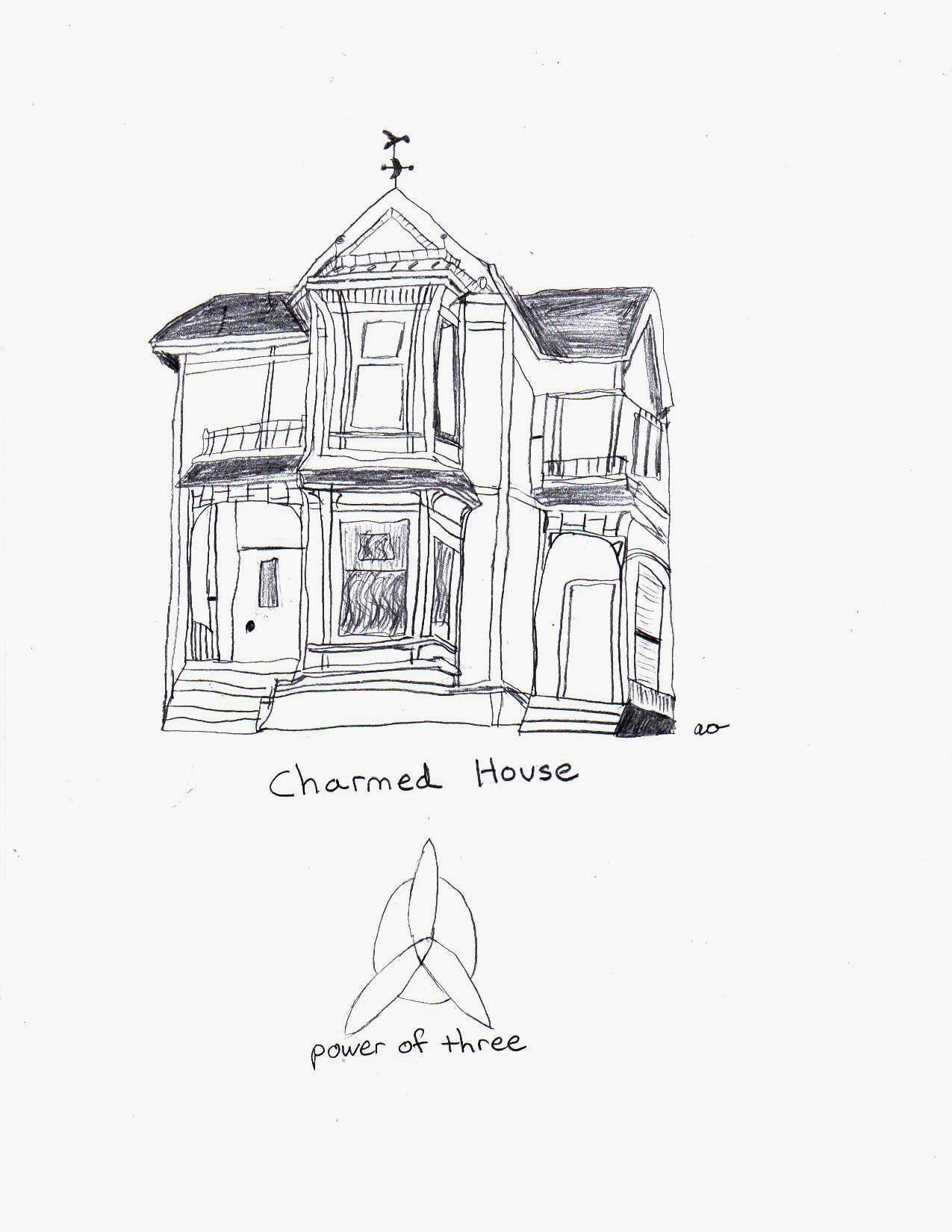 Manor House Drawing: Charmed House By Darkwiccanone On DeviantArt