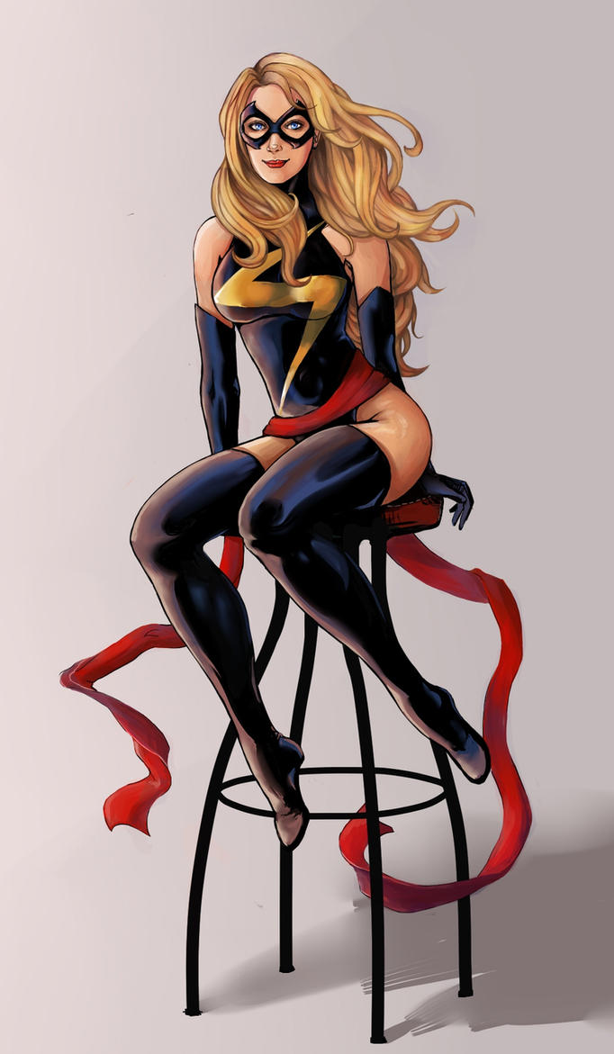 Ms. Marvel by VioletDragonSlayer