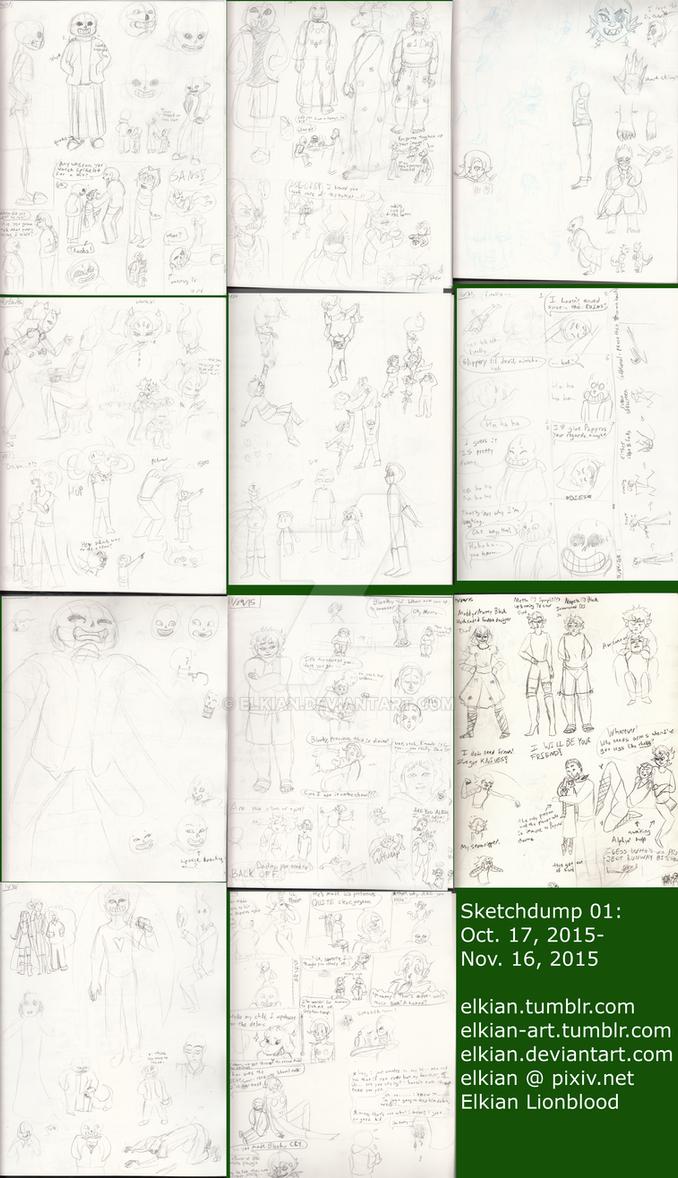 Sketchdump01 Oct-Nov 2015 by Elkian