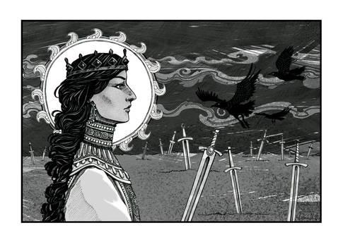 Mara with ravens