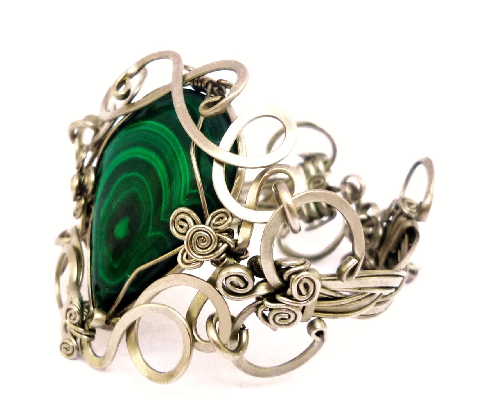 Wire Wrap Braided Bracelet by hyppiechic