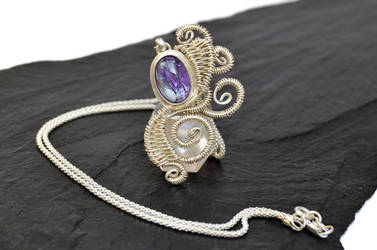 Tanzanite Necklace !!! by hyppiechic
