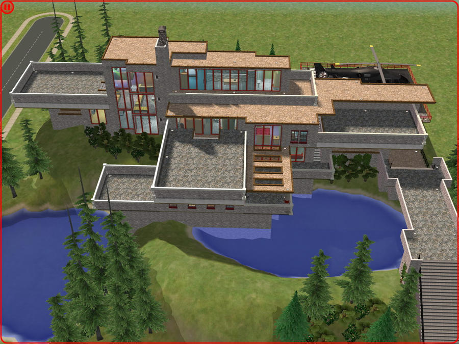Modern house in sims 2