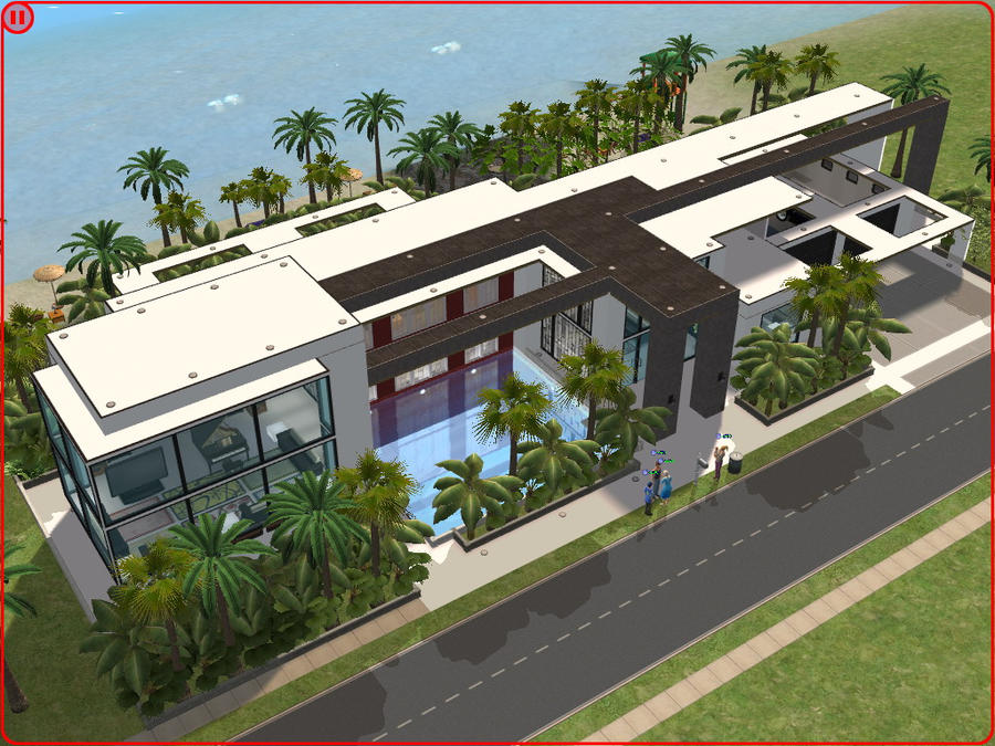 Sims 2 modern beach house by ramborocky on deviantart for Beach house 3 free download