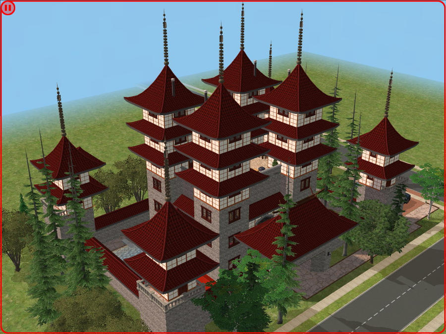 sims 2 japanese fortress - photo #1