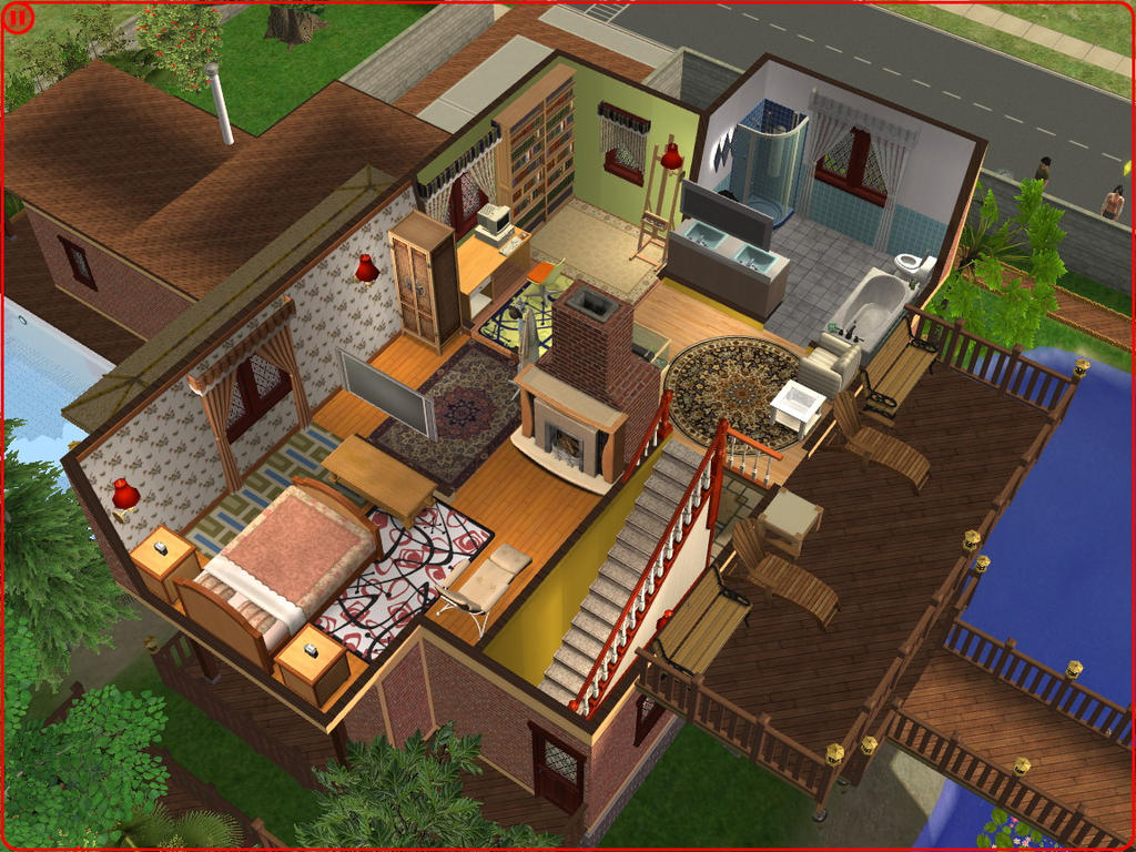 Sims 2 house 04 by ramborocky on deviantart for Minimalist house sims 2