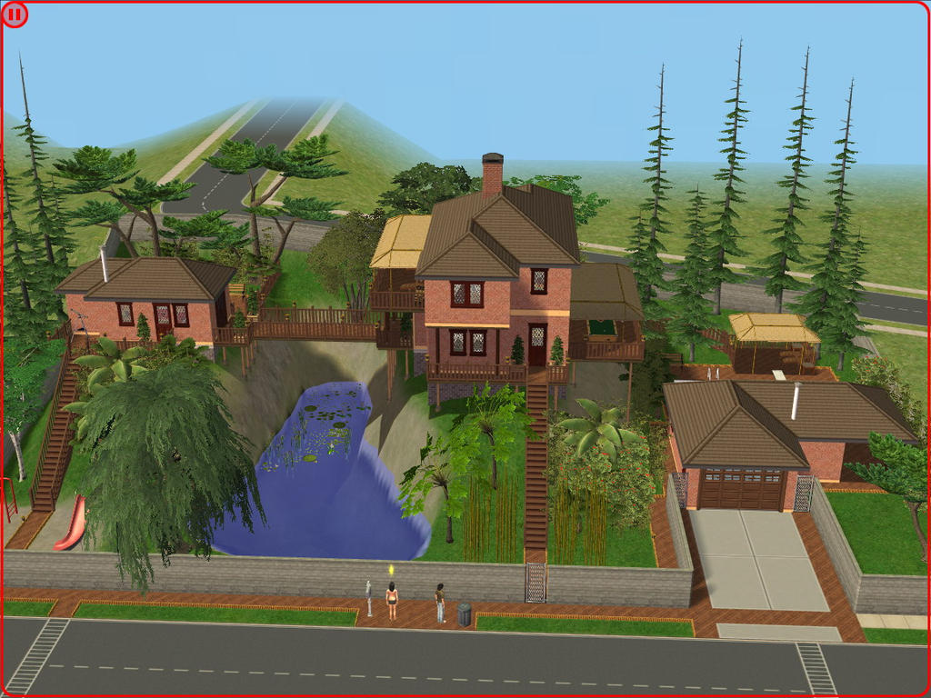 Addons sims 2 gratuit for Minimalist house sims 2
