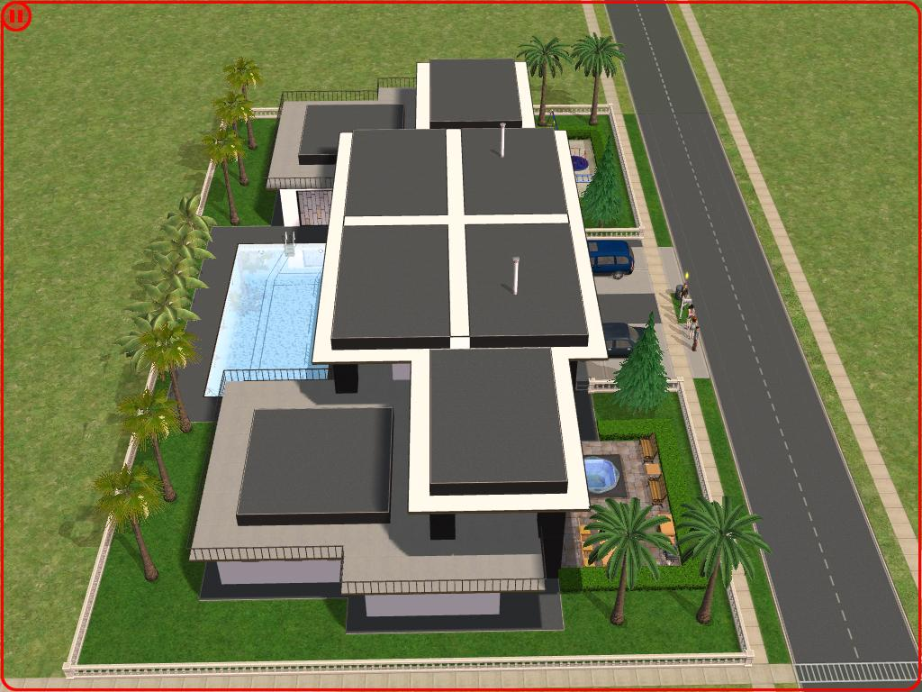 Sims 2 modern house plans house plans for Sims 2 home designs