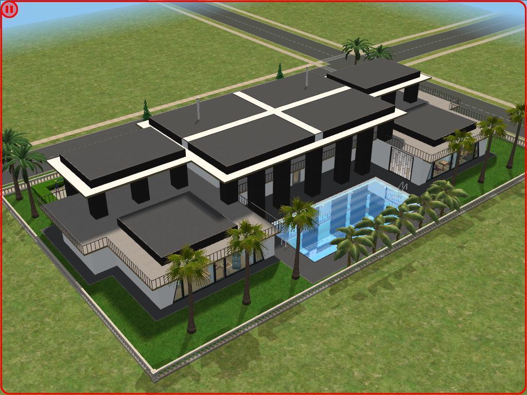 Sims 2 Modern House By Ramborocky On Deviantart
