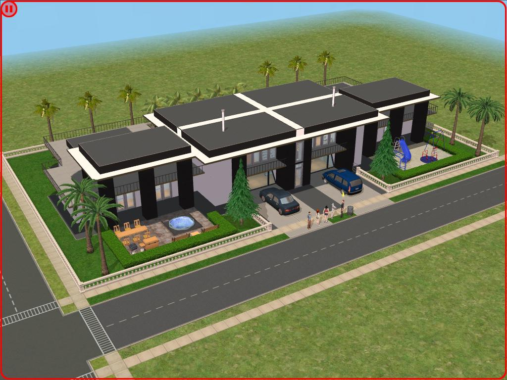 Sims 2 modern house by ramborocky on deviantart for Sims 2 house designs floor plans