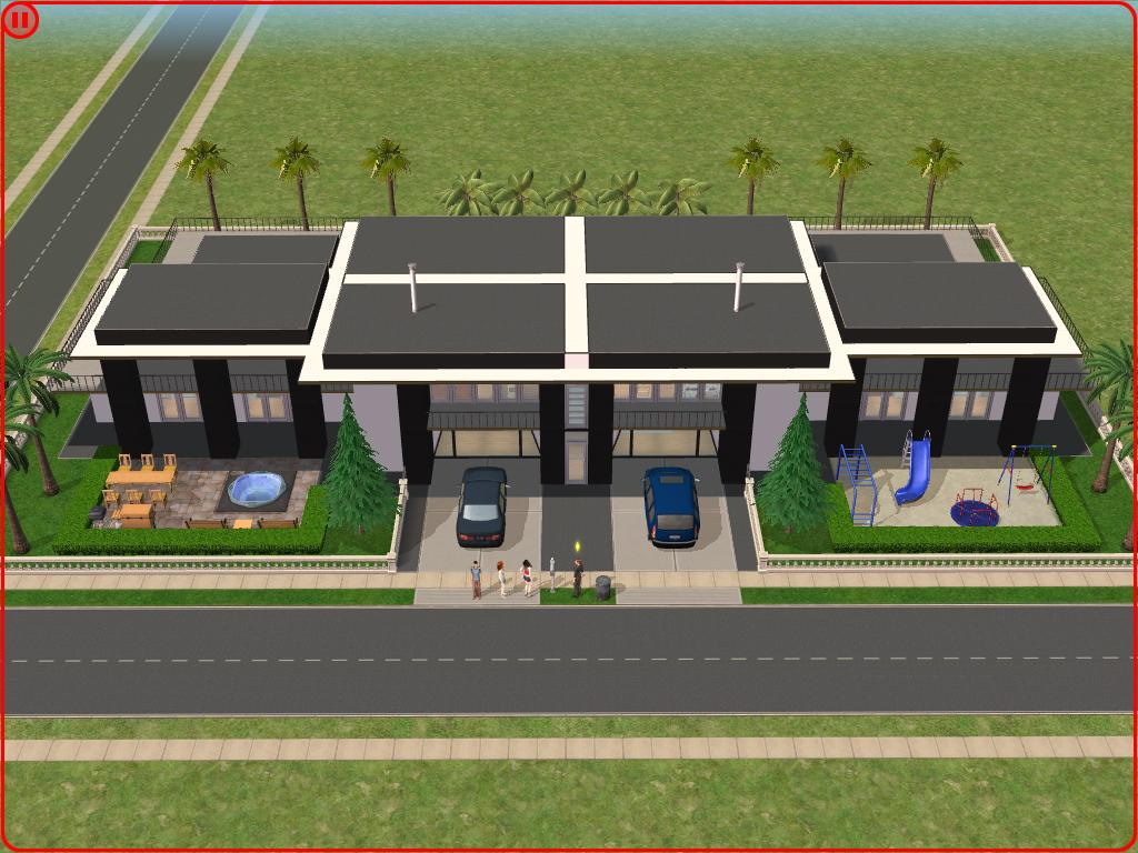 Sims 2 modern house by ramborocky