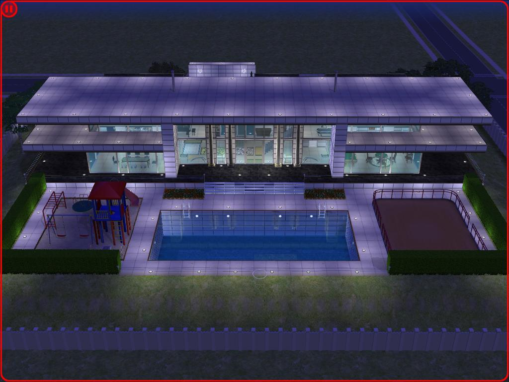 Sims 2 modern white house by ramborocky on deviantart for Minimalist house sims 2
