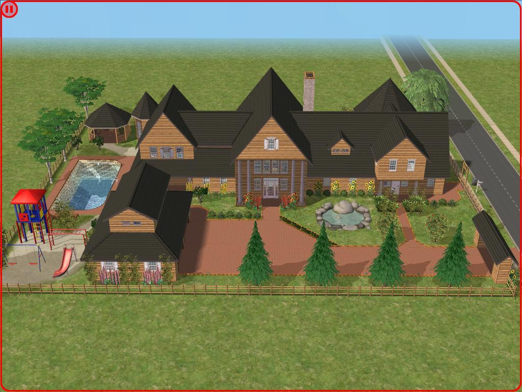 Sims 2 log house by ramborocky on deviantart for Sims 2 home designs