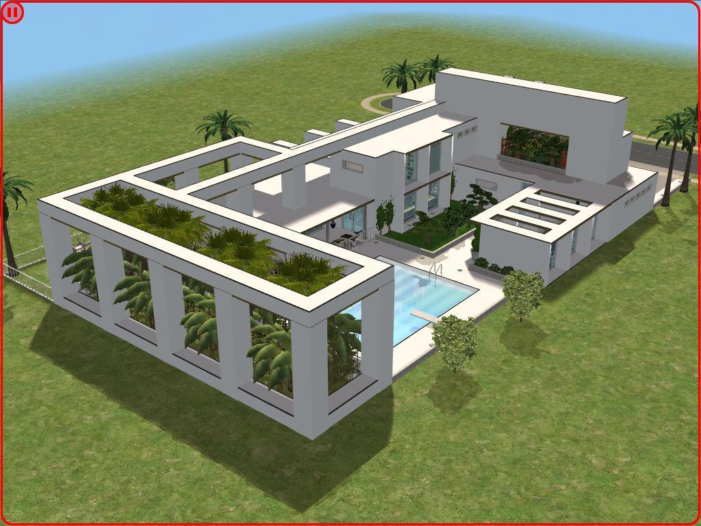 Sims 2 modern minimalist style house by ramborocky