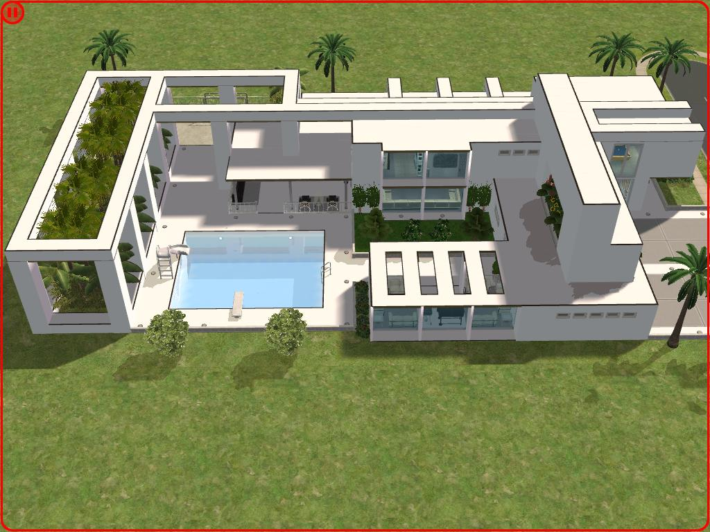 sims 2 modern minimalist style house by ramborocky on