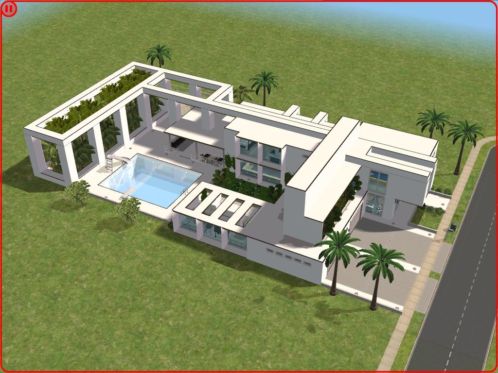 The sims 2 modern house design house and home design for Sims 2 home designs