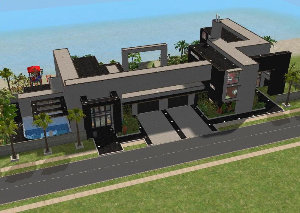 Sims 2 beach house by ramborocky on deviantart for Beach house plans sims 3