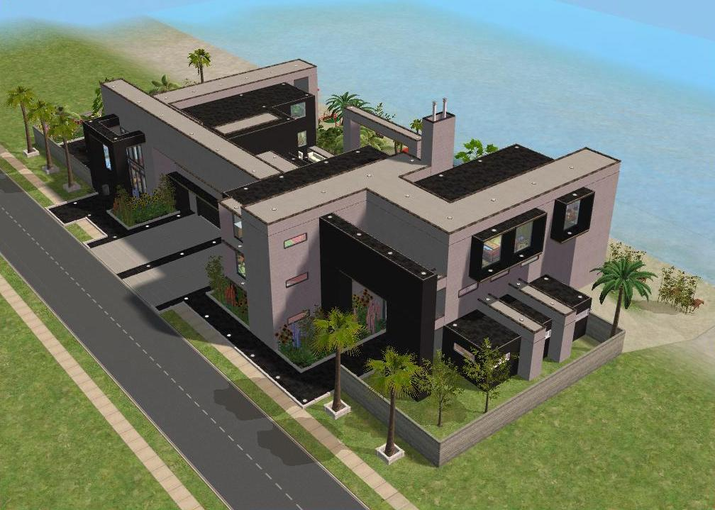 Sims 2 houses small kitchen design ideas for Beach house plans sims 3
