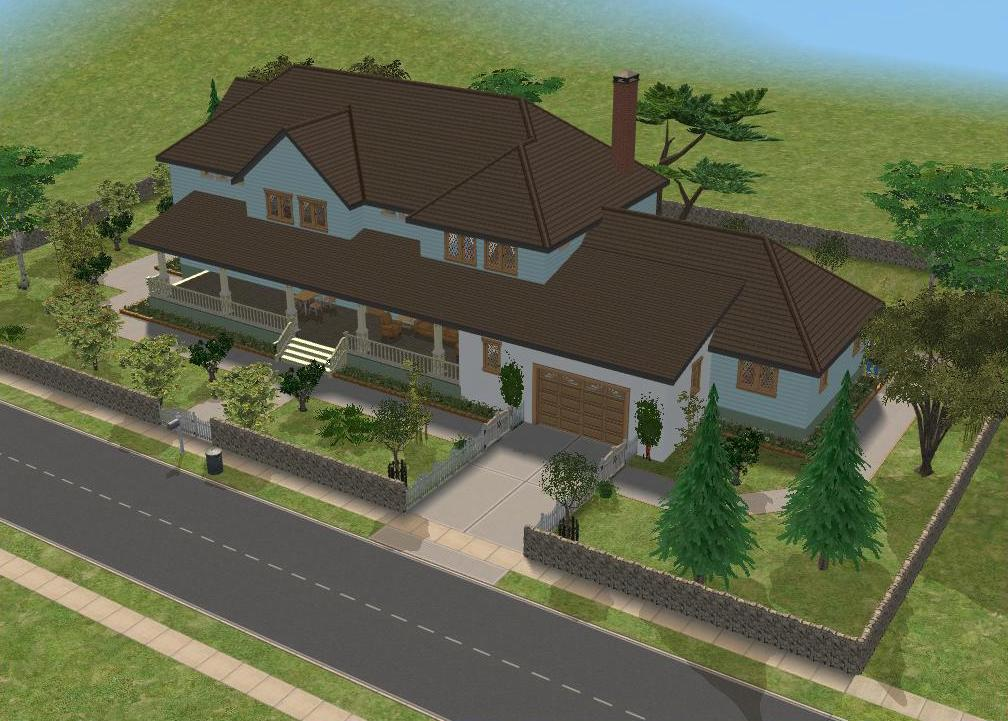Sims 2 large family house by ramborocky on deviantart for Minimalist house sims 2