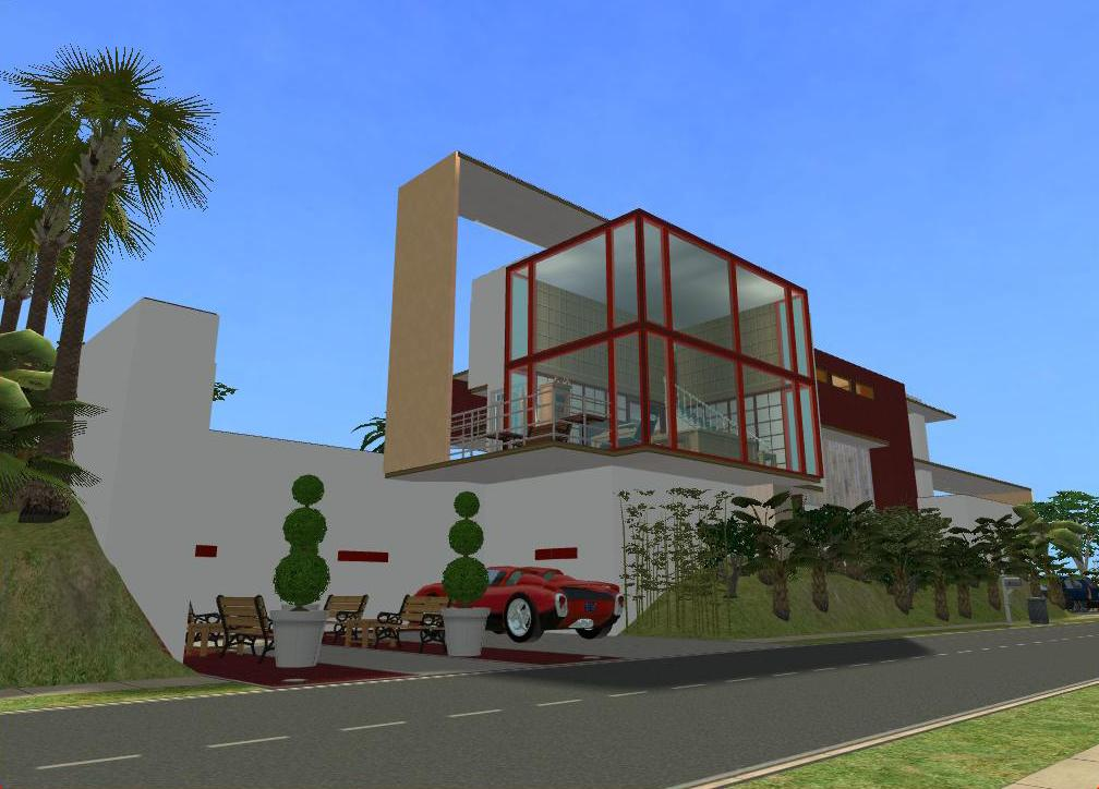 Sims 2 Modern Beach House By RamboRocky On DeviantArt