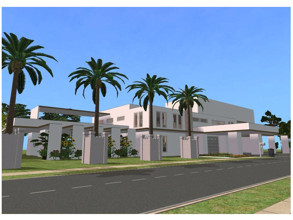 Deviantrt: More Like Sims 2 Modern minimalist style house by ... - ^