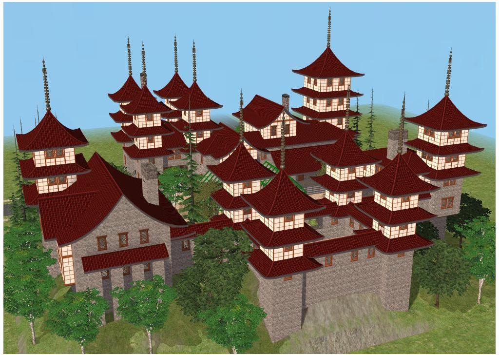 sims 2 japanese fortress - photo #7
