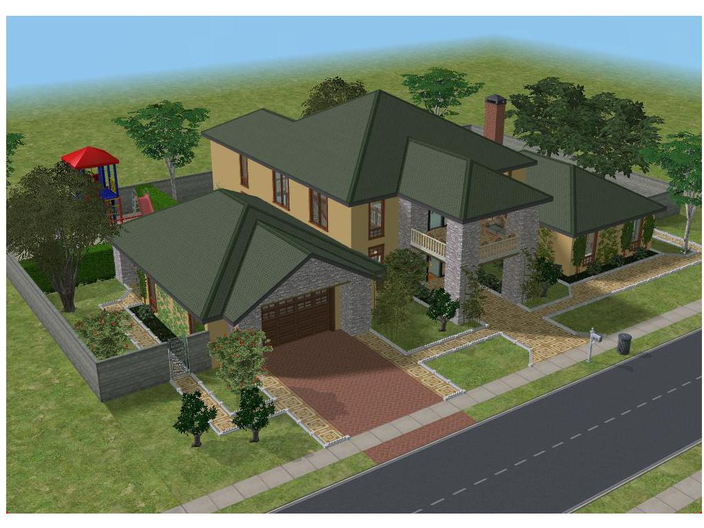 Sims 2 Simple Family House By Ramborocky On Deviantart