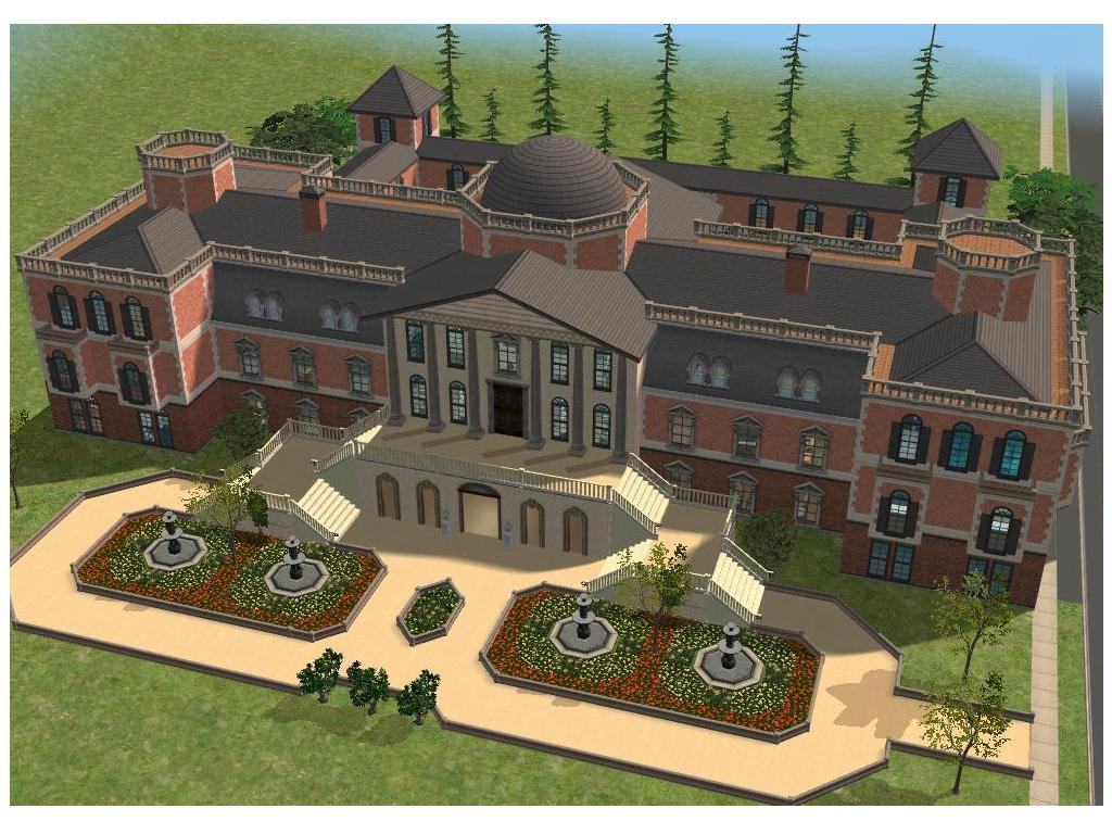 Sims 2 house plans mansion images for Sims mansion floor plans