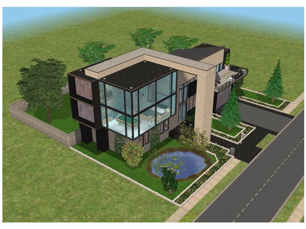 Small modern house by ramborocky on deviantart for Minimalist house sims 3