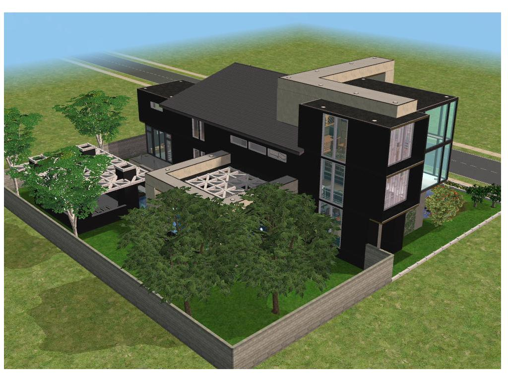 Mansion Floor Plans Sims 3 Small Modern House By Ramborocky On Deviantart