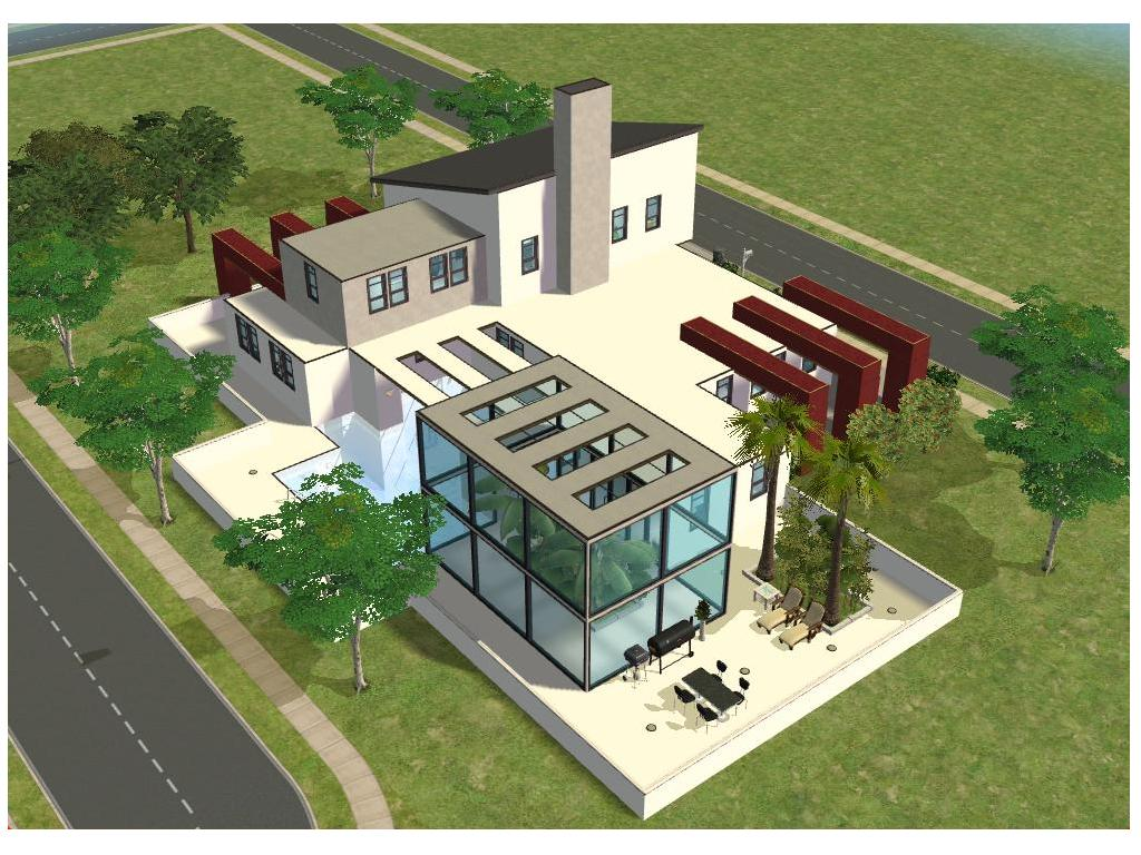Small simple modern house designs for Modern house plans sims 4