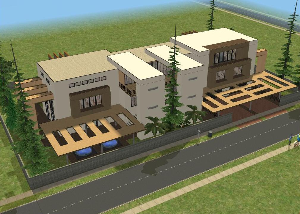The sims 2 modern house house modern for Sims 2 house designs floor plans