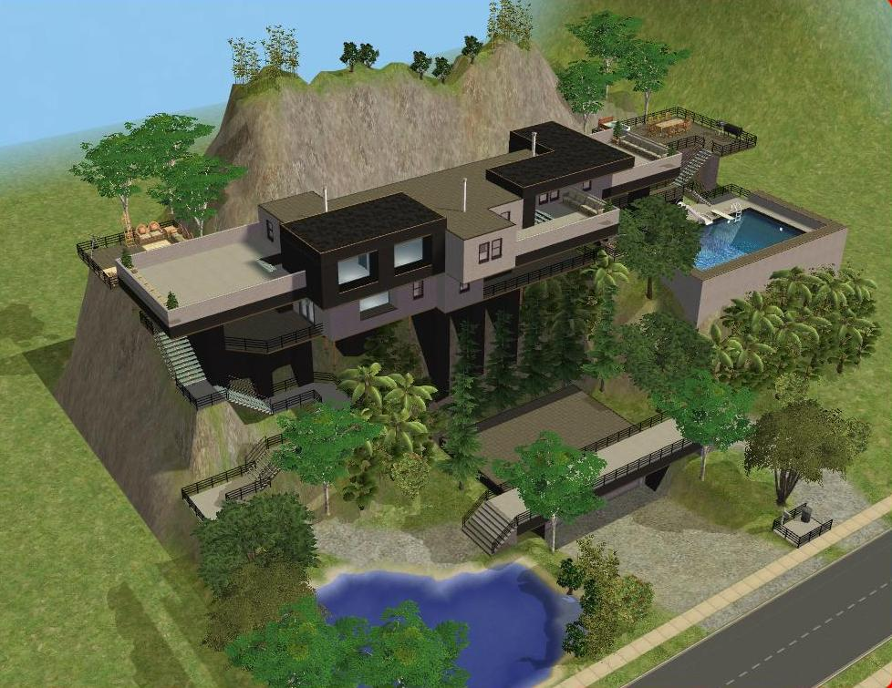 Sims 2 Cliffside House By RamboRocky On DeviantArt