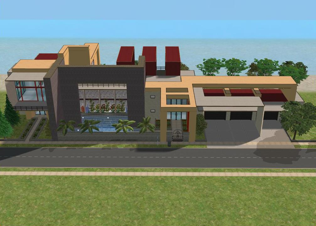 Sims 2 Modern Beach Villa by RamboRocky on deviantART