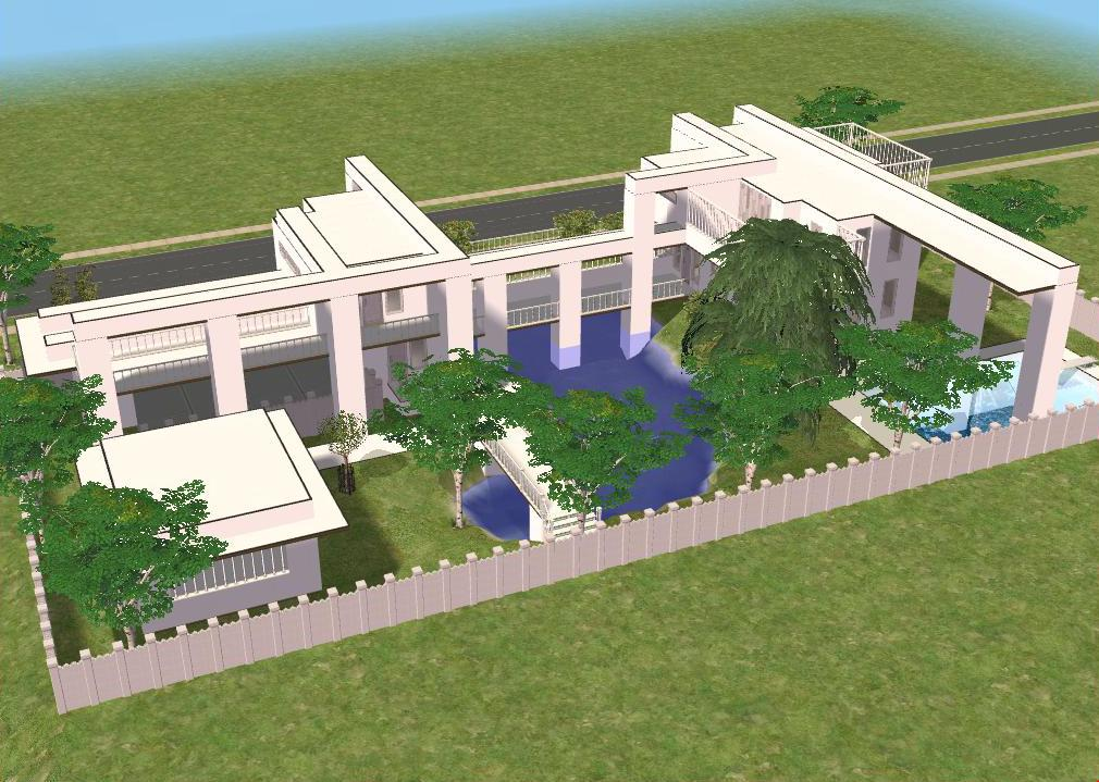 Sims 2 Modern White House By RamboRocky On DeviantArt
