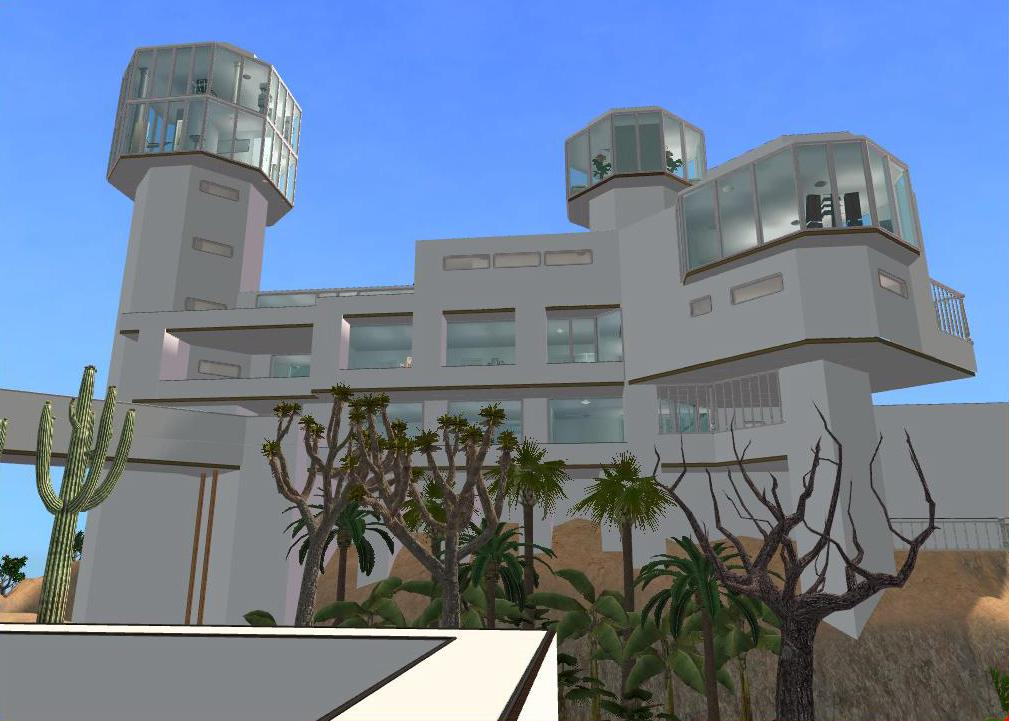 Sims 2 Futuristic Hillside Mansion 327338152 on Sims 2 Modern Houses