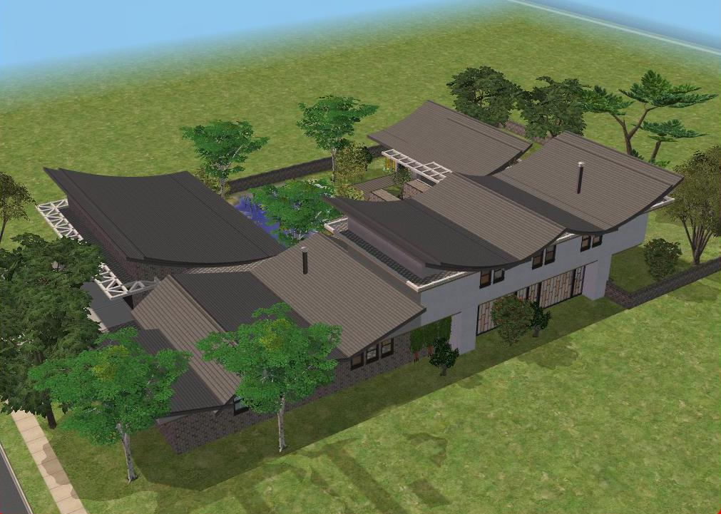 Sims 2 Modern Japanese house by RamboRocky on DeviantArt
