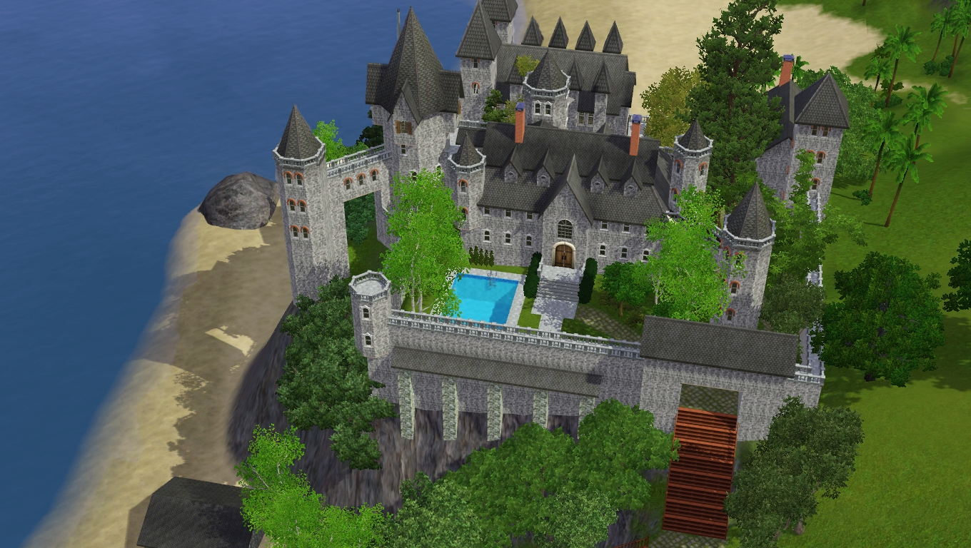 Sims 3 Castle 356039736 on digital blueprints of houses