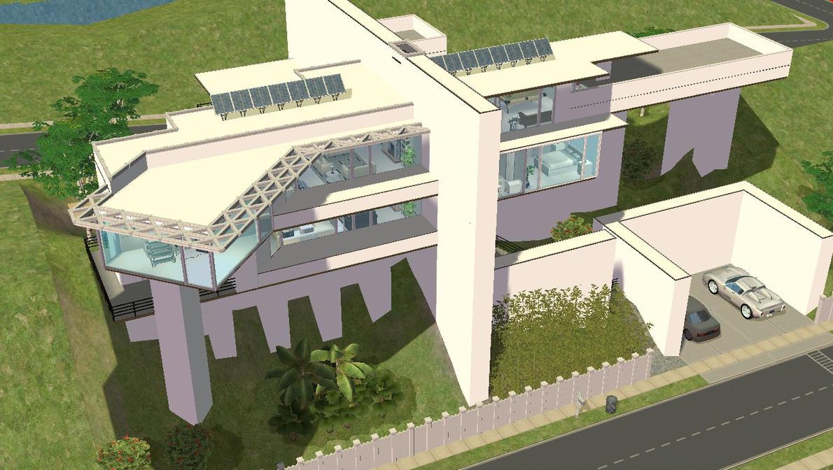 Sims 2 Modern Hillside Mansion By RamboRocky On DeviantArt