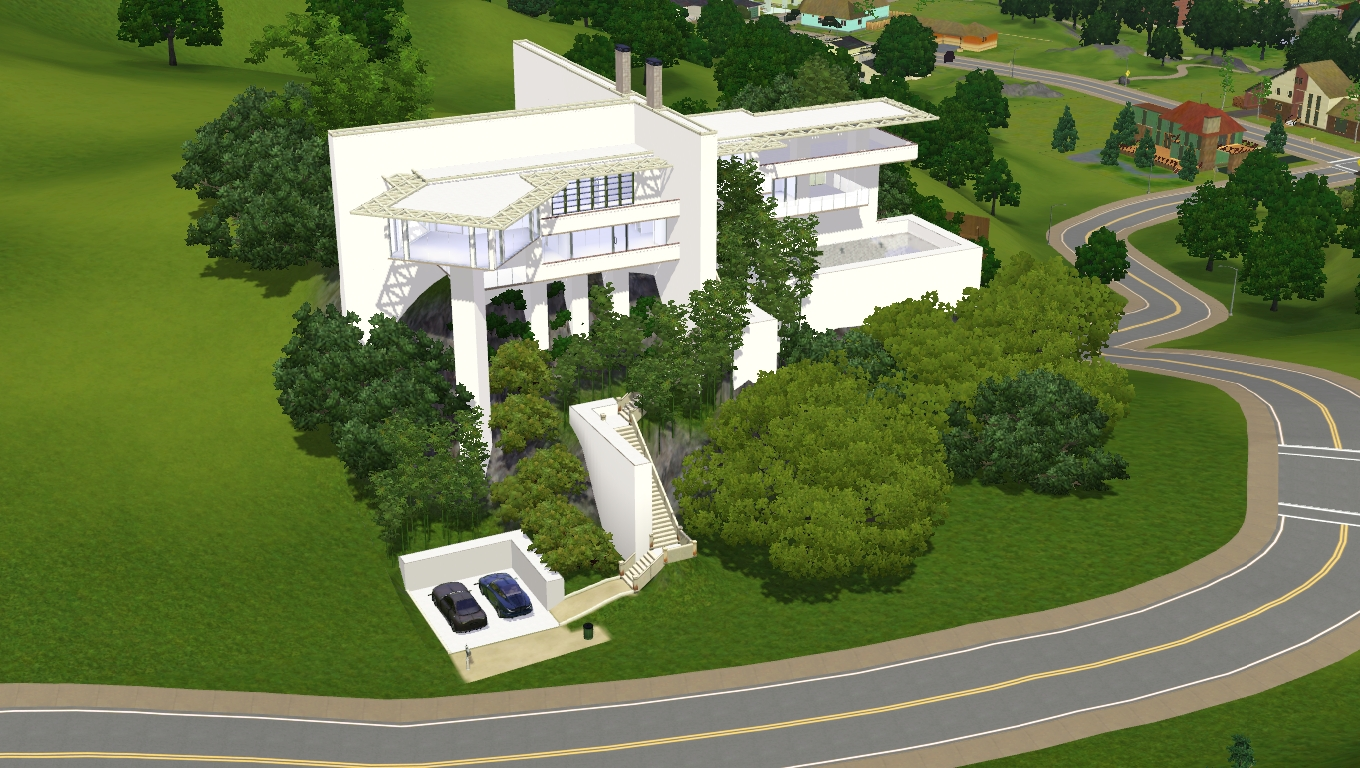 Sims 3 Modern hillside home by RamboRocky on DeviantArt