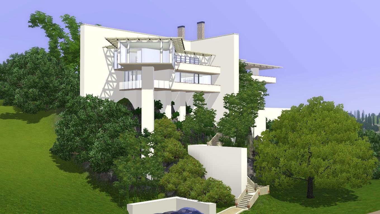 Sims 3 Modern hillside home by amboocky on Deviantrt - ^