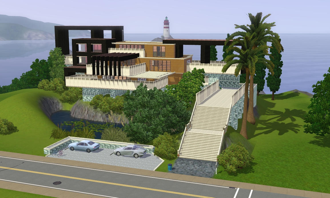 Incroyable Sims 3 Modern Hillside Home By RamboRocky ...