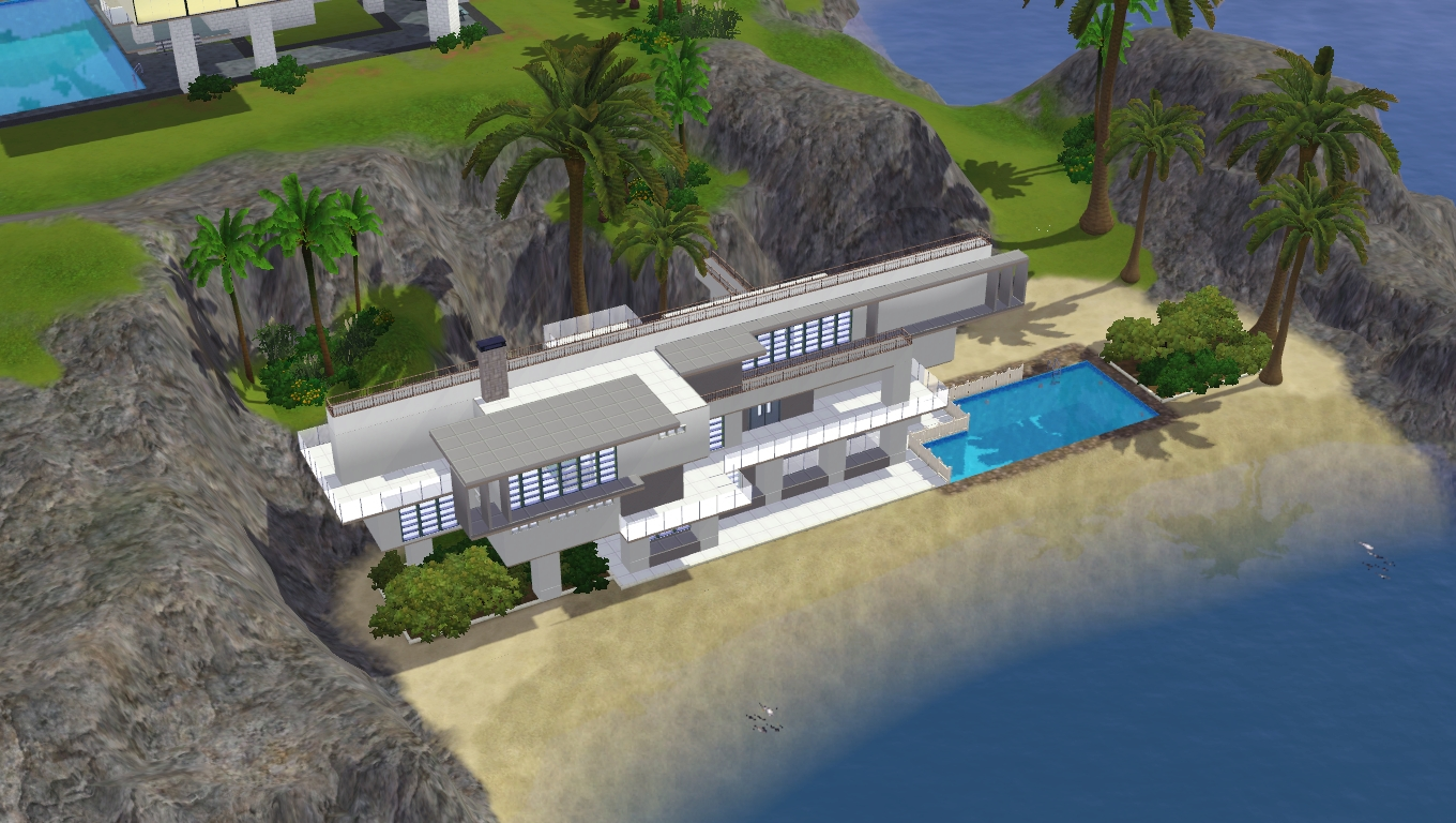 Sims 3 modern beach home by ramborocky on deviantart for Beach house designs for sims 3