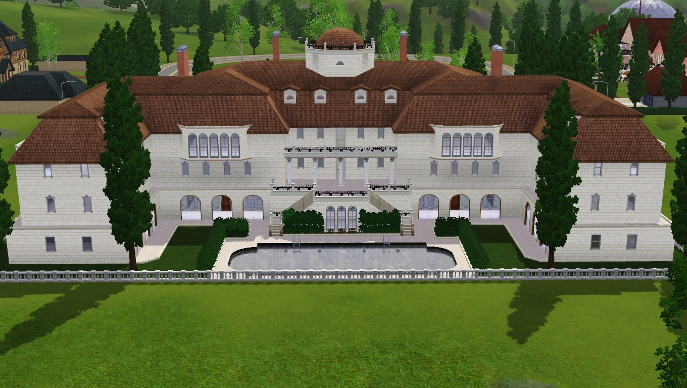 Sims Luxury Mansion By RamboRocky On DeviantArt - Cool sims 3 houses