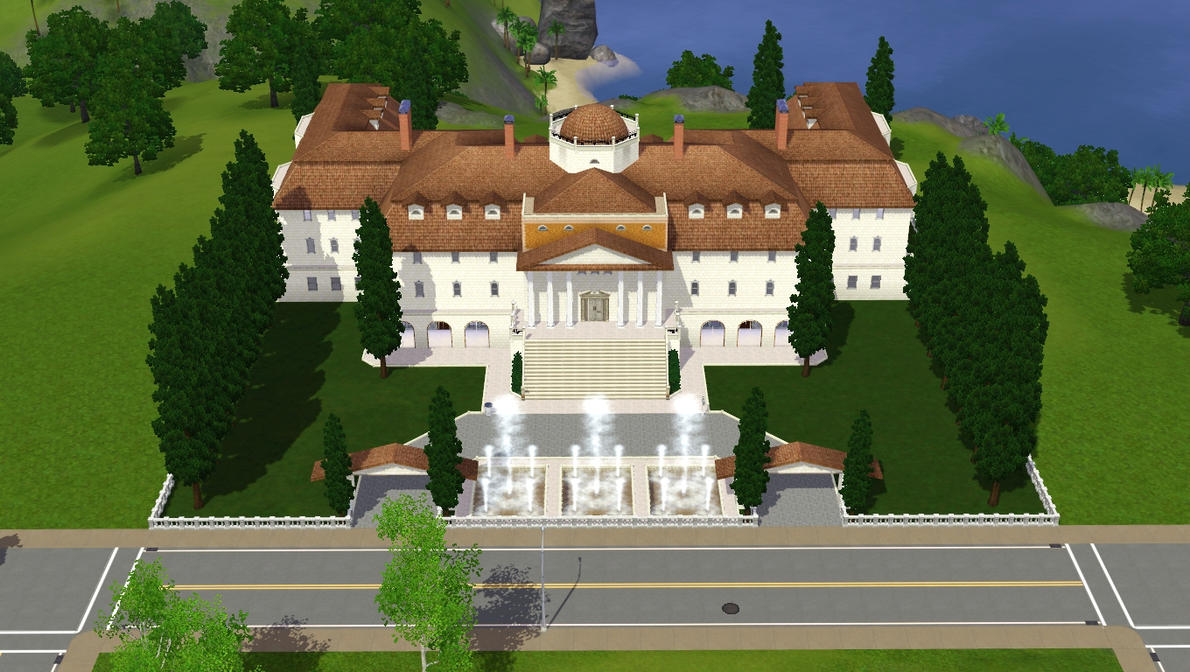 Sims 3 luxury mansion by ramborocky on deviantart for Cool house plans for sims 3