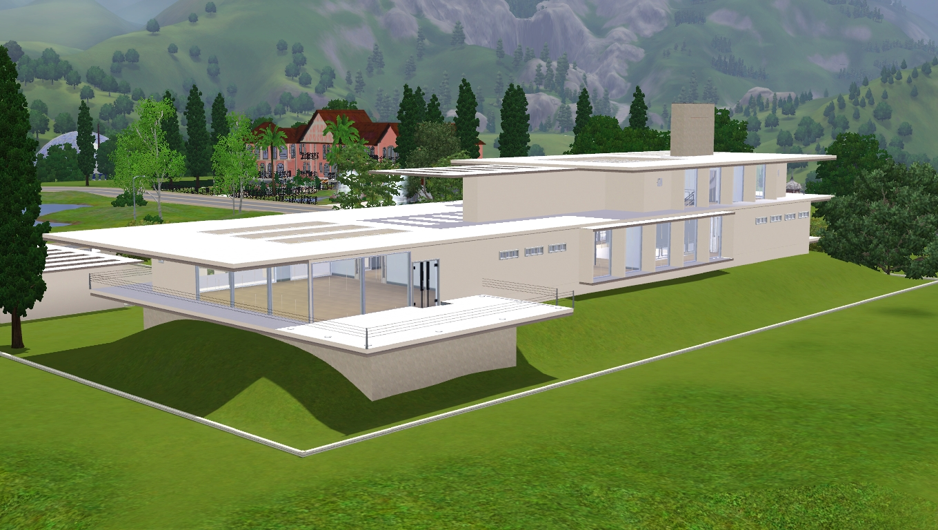 House Plans and Design Modern House Designs Sims 3